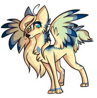 Gift::The Wolf With Blue Fur by Koshi-Doshi