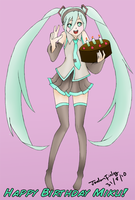 Happy Birthday Miku 3 by AtelierJordan