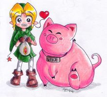Pig Link by hylianmage