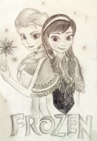 Frozen | Elsa and Anna by flyin-stars