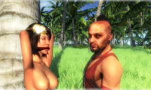 Far Cry: Samantha topless, bound and gagged by benja100