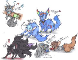 Shishi and the group by hallowraven