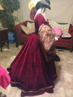 The Tudor Gourt Gown side view 2 by TheMostHappy12
