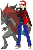 me and zoroark by KennyRisner