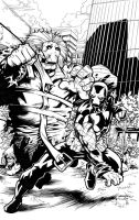 Absolute Zero 4 cover inked by ragelion