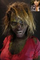 Zombie Girl (Before and After) by artanis-one