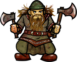 Dwarf Rogue by WhoDrewThis