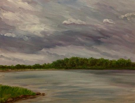 Angry Clouds on the Wisconsin River by Goalie89