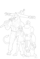 Wizard Of Oz Lineart  By Mike Rayn3r-d72el45 by RAYN3R-4rt
