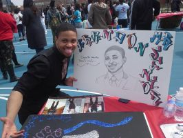Brandon and his Poster by AnArtistic0Soul