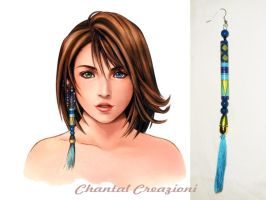 Yuna's earring from FFX, new version by StudioFeniceImport