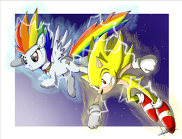 .:Super Sonic Rainbow Boom:. by The-Butcher-X