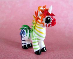 Rainbow Zebracorn by DragonsAndBeasties