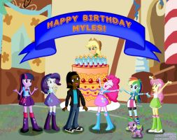 Myles' Birthday Party by Cartoon-Admirer