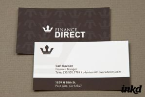 Finance Company Business Card by inkddesign