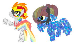 Prism Flash and Crystallized Mare by Bre-Bre-Chan