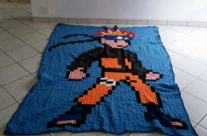 Crochet Naruto Blanket  by sewleigh