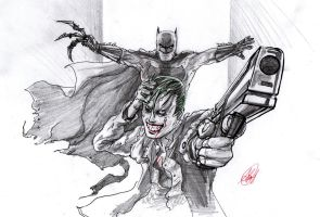 Batman vs Joker - SUICIDE SQUAD is coming by AtLeastimalive