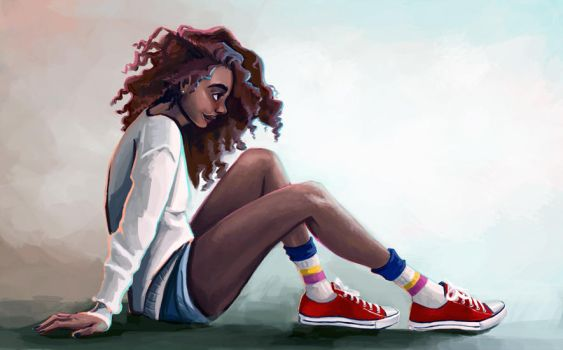 Red converses by Virnavus