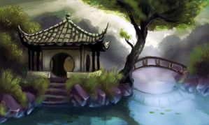 Chinese temple by Joey-B