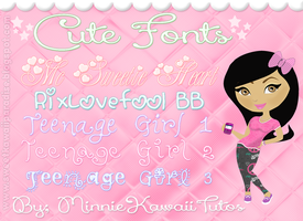 Cute Fonts by MinnieKawaiiTutos