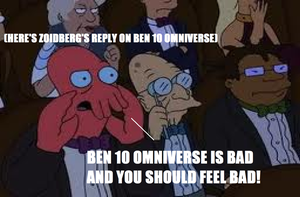 Zoidberg's Reaction to Ben 10 Omniverse by thekirbykrisis