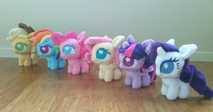 Ponydoll Mane 6 Group Shot by sugarstitch