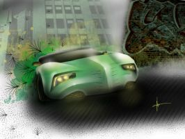 Urban jungle concept 2 front view by keegancheok
