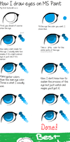 Eye tutorial for MS Paint by x-MassMurder-x