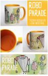 Cup Design - Robo Parade by LenupetComics