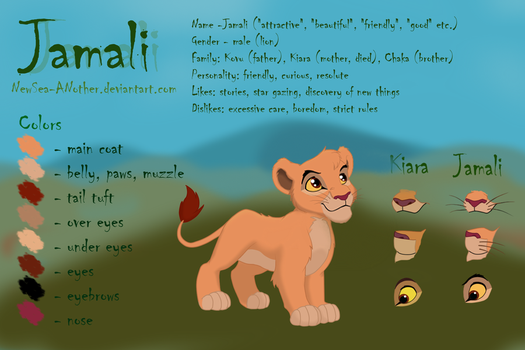 Jamali: reference sheet by NewSea-ANother