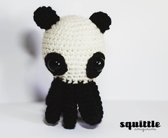 Panda Bear Octopus 2 by Squittle Amigurumi by candypow