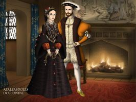 Philip II of Spain and Elizabeth Valois by TFfan234