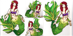 Ariel - articulated paper doll by Namtia