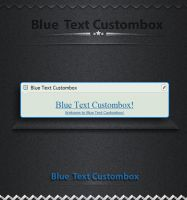 Blue  Text Custombox by SK-DIGIART
