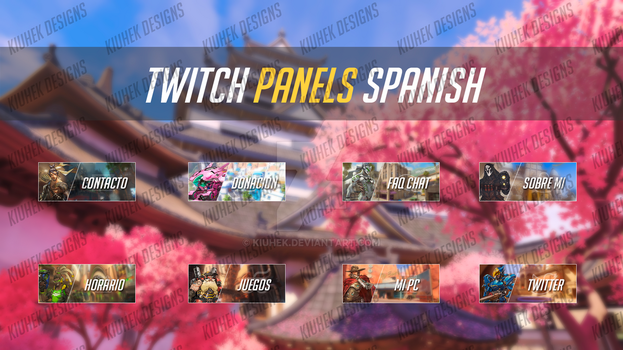 Spanish Overwatch Twitch Panels by Kiuhek