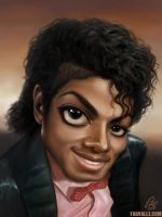 Michael Jackson caricature - The Billie Jean times by Fabvalle