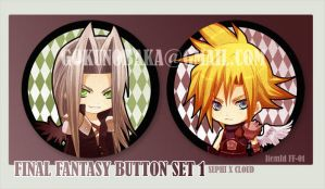 FinalFantasy Button set 1 by goku-no-baka