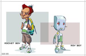 Rocket Boy and Roy Bot by Robotpencil
