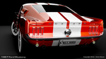 1967 Ford Mustang Rear View by abanimation