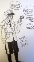 Apple Pie Eating Cowboy Yankee Day by x-BlueYani-x