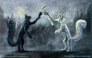Yava and Stian collaboration by RiverRaven