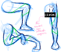 Training male anatomy -legs- by Carolzilla