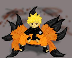 the nine tailed brat redone by hybrid-Sarki
