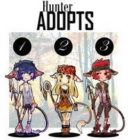 Hunter Adoptables 2 by Avvyraptor