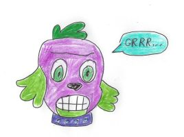 Mean Spike Dog (My Little Pony - Equestria Girls) by dth1971