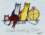 CLOCK WATCHING CATS by ulyferal