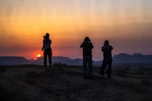 Jordanian sunset by ShlomitMessica