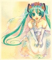wedding Miku by jurithedreamer