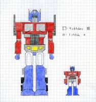 Optimus Prime xstitch patterns by crawdadEmily